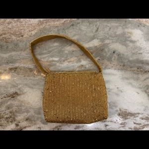 Mini gold bead purse